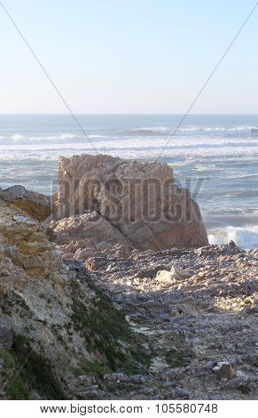 The Waterscape With Ocean And The Rocks