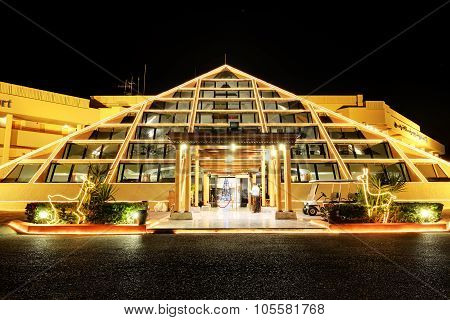 Hurghada, Egypt -  December 4: The Sonesta Pharaoh Beach Resort In Christmas Decoration On December