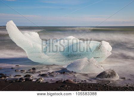 Chunk of ice in the sea
