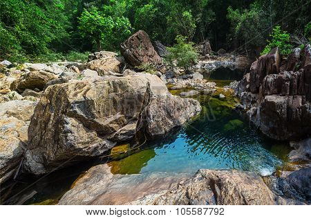 Stream In The Tropical Jungles Of South East Asia
