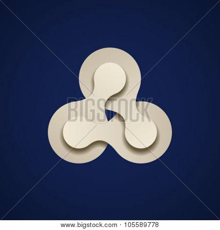 vector teamwork infinity chain paper emblem