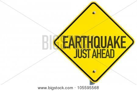 Earthquake sign isolated on white background