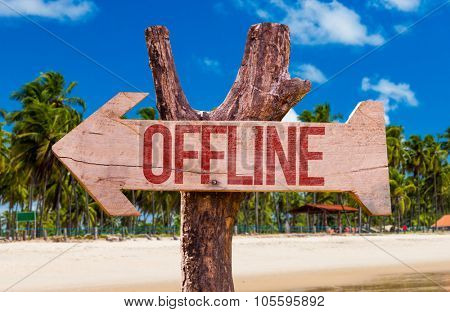 Offline arrow with beach background