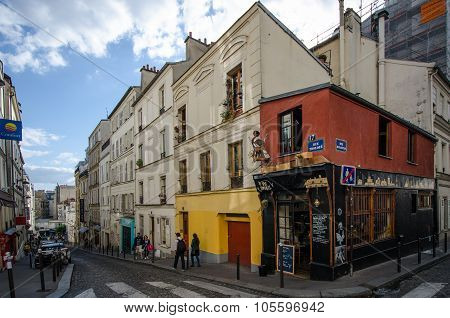 Le Petit Moulin in Montmartre in Paris