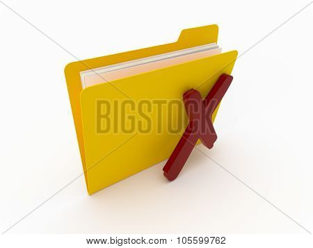 Yellow Folder With Red Cross