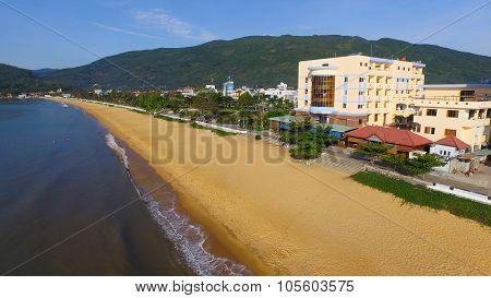 Beach in Quy Nhon city, Binh Dinh province, Vietnam