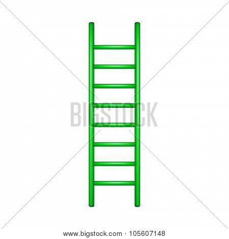 Wooden ladder in green design