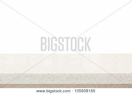 Quartz Stone Countertop On White Background
