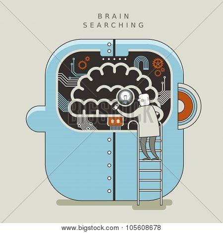 Brain Searching Concept Illustration