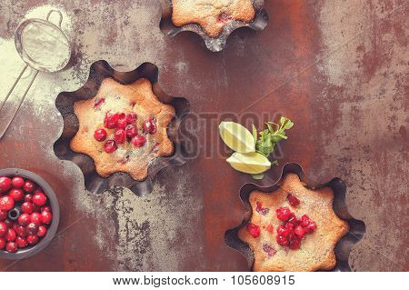 Cherry and Cranberry Tart