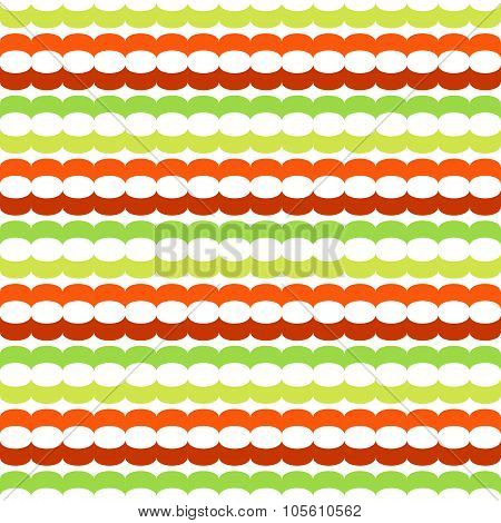 Seamless pattern with horizontal chains