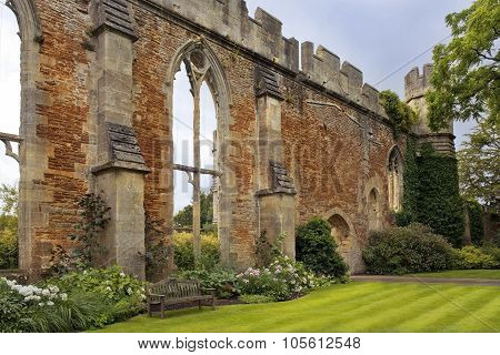 Ruined Great Hall By The Bishops Palace, Somerset, England