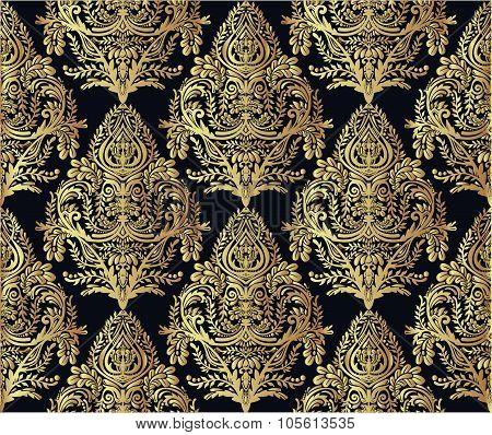 Wallpaper baroque seamless pattern.