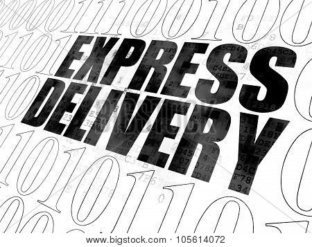 Finance concept: Express Delivery on Digital background