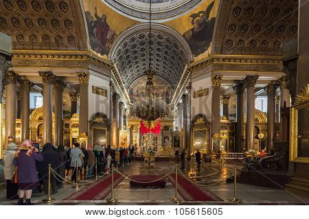 Interior Of Kazan Cathedral In Saint Petersburg, Russia