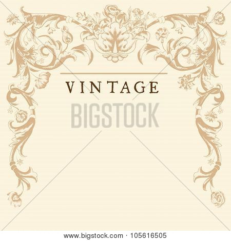 Classic Vintage vector frame baroque.