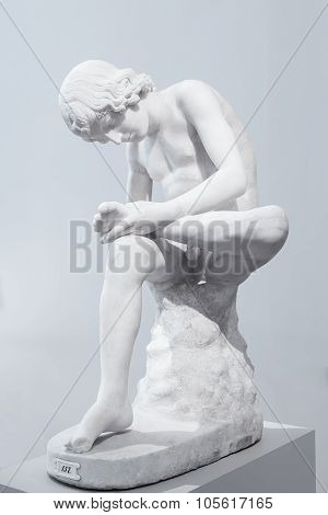 Statue Of A Boy Plucking A Thorn From His Foot In The Altes Museum, Berlin