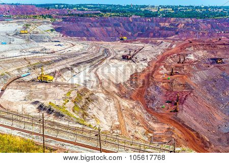 Iron Ore Mining In Mikhailovsky Field Within Kursk Magnetic Anomaly, Russia