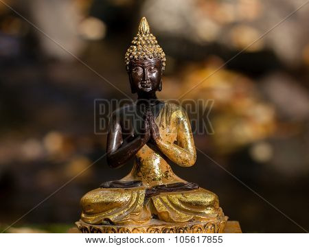 Buddha Figure Illuminated By The Sun