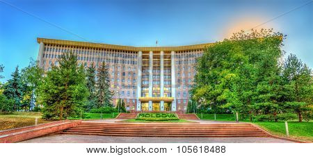 Parliament Of The Republic Of Moldova In Chisinau