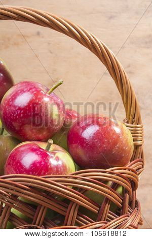 apples in a wicker basket