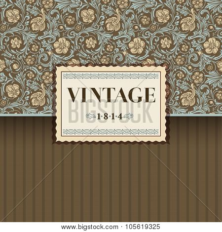 Vintage vector background in classical baroque style.