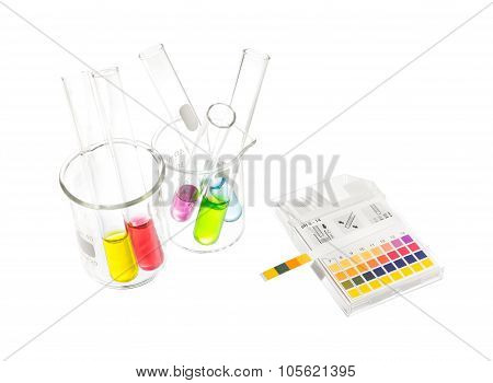 Ph Paper Indicators And Tube With Ph Values