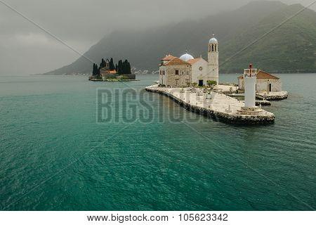 Ancient Walls Old Town Boka Kotorska On The Adriatic Sea