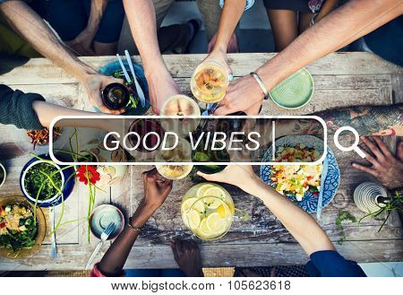 Good Vibes Positive Feelings Summer Concept