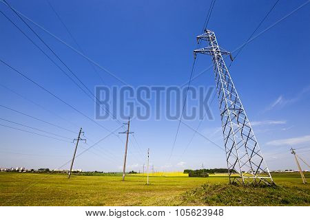 electric line in the agricultural field