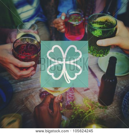 Clover Leaf Saint Patrick's Day Ireland Lucky Irish Culture Concept