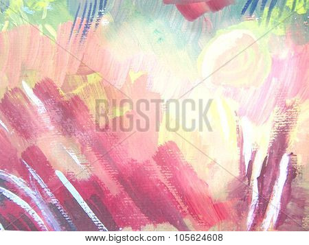 Abstract Brush Painting Background.