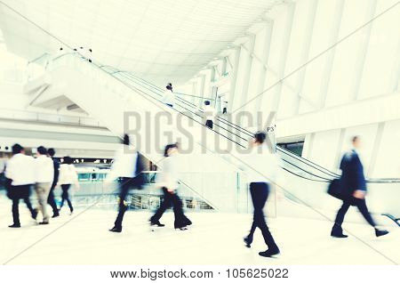 Business Rush Hour Walking Rush Hour Concept