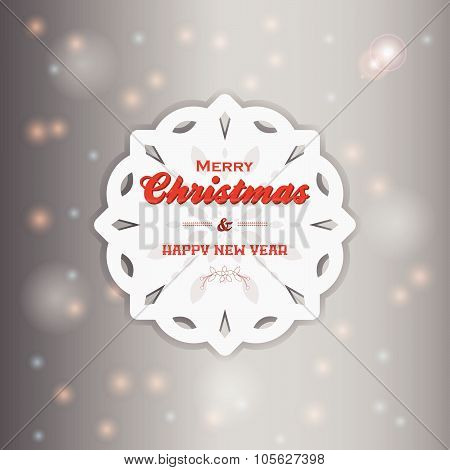 Christmas Snowflake With Text