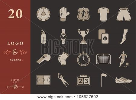 Set Of Vector Icons Football