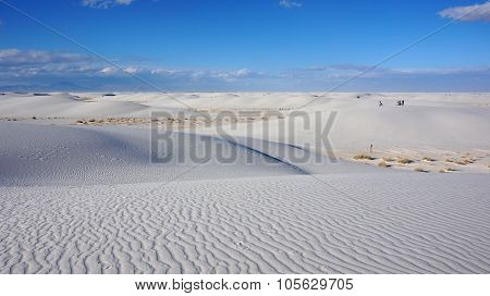 White Sand Dunes On Sunny Day
