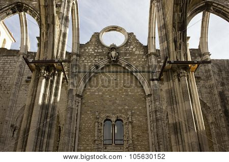 Looking Up At Carmo Convent