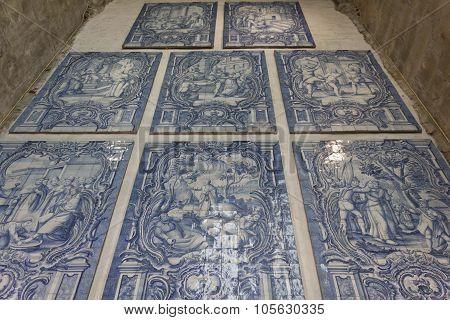 Blue Azulejos tile decoration