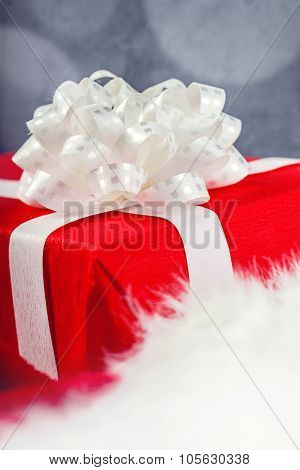 Gift Or Present Wrapped In Red Paper