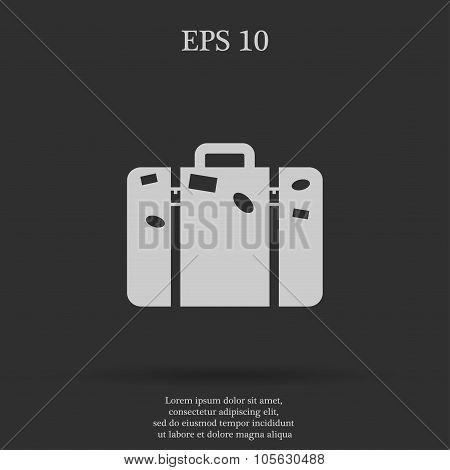 Bag Icon Flat Design Style