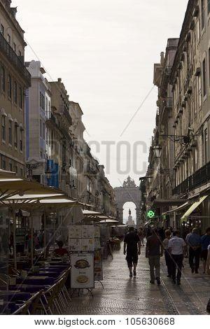 Rua Augusta Street In Lisbon