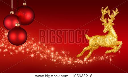 Red Christmas Fantasy Background