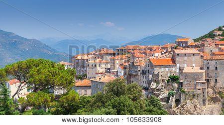 Ancient Town Sartene, South Corsica, France