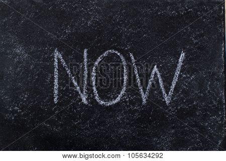 Now Written On Blackboard