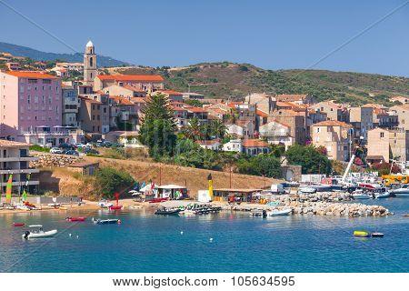 Coastal Cityscape Of Propriano, Corsica, France