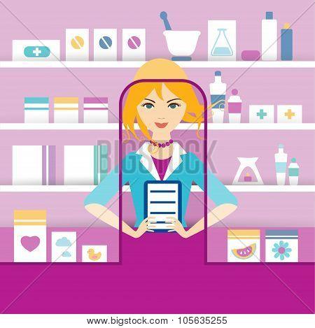 Pharmacy Chemist Girl.