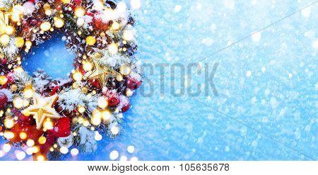 Art Christmas Background