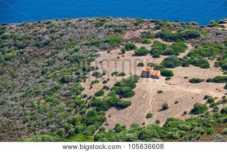 Rural Landscape, Small Abandoned House, Corscia