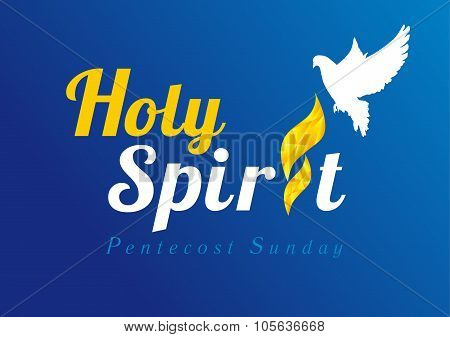 Holy Spirit dove flame card