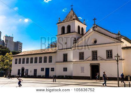 SAO PAULO, BRAZIL - CIRCA JAN 2015: Patio do Colegio in Sao Paulo, Brazil